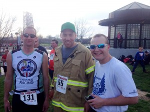 Paul Hasenmeier, Andrew Catron (The Model City Firefighter) and Robby Ownes (Average Jake)